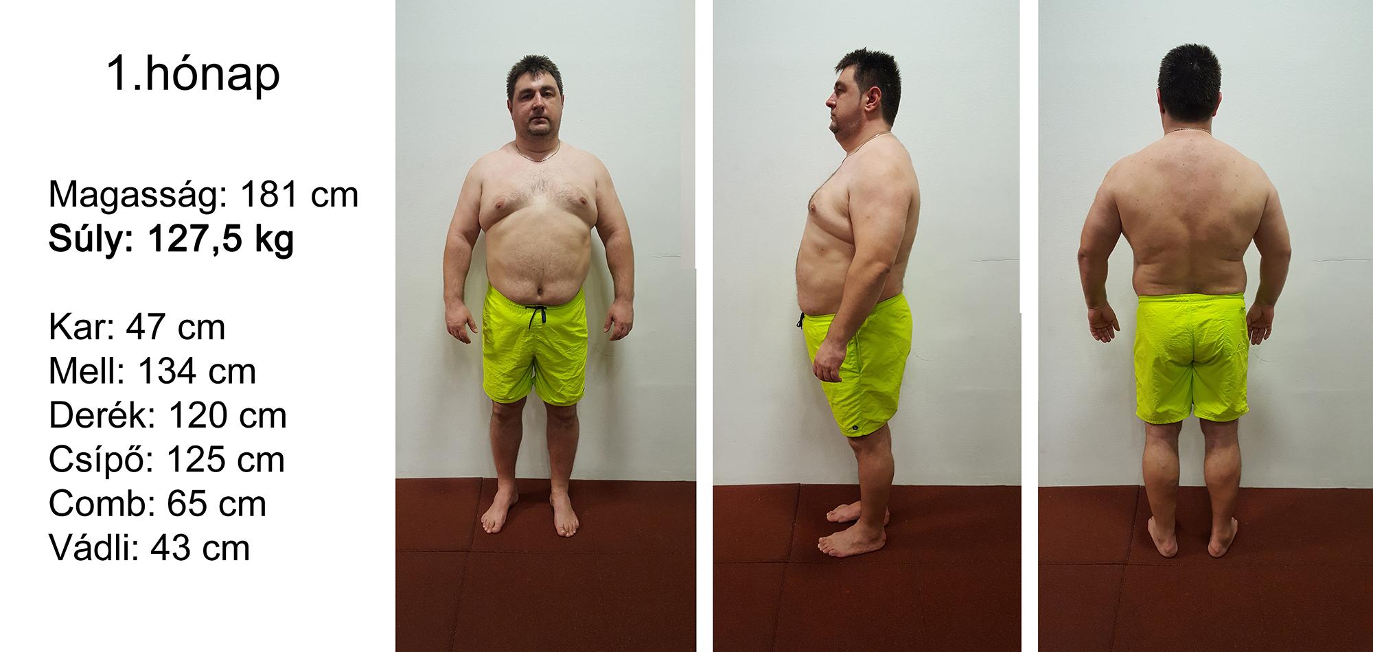 100 kg 70 kg súlycsökkenés)