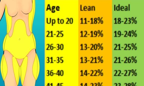 A testzsír százalék megállapítása