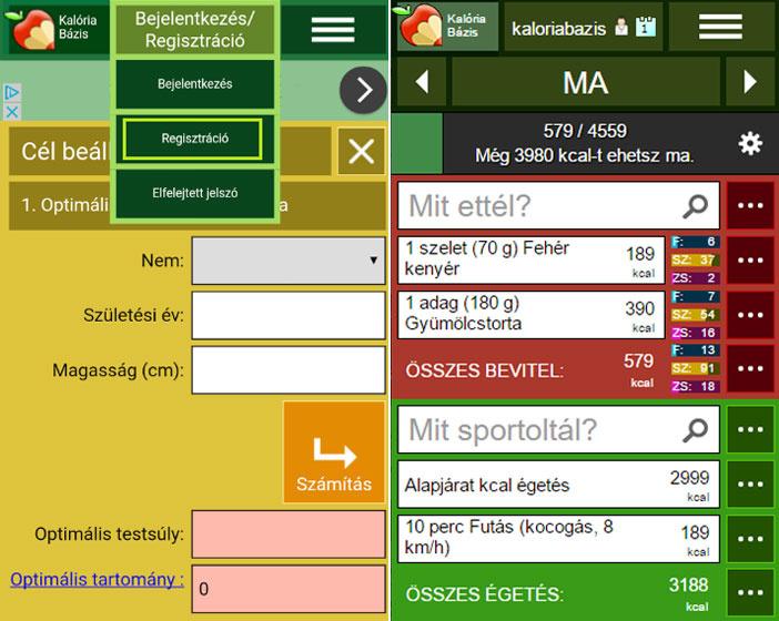 legjobb fogyás app)