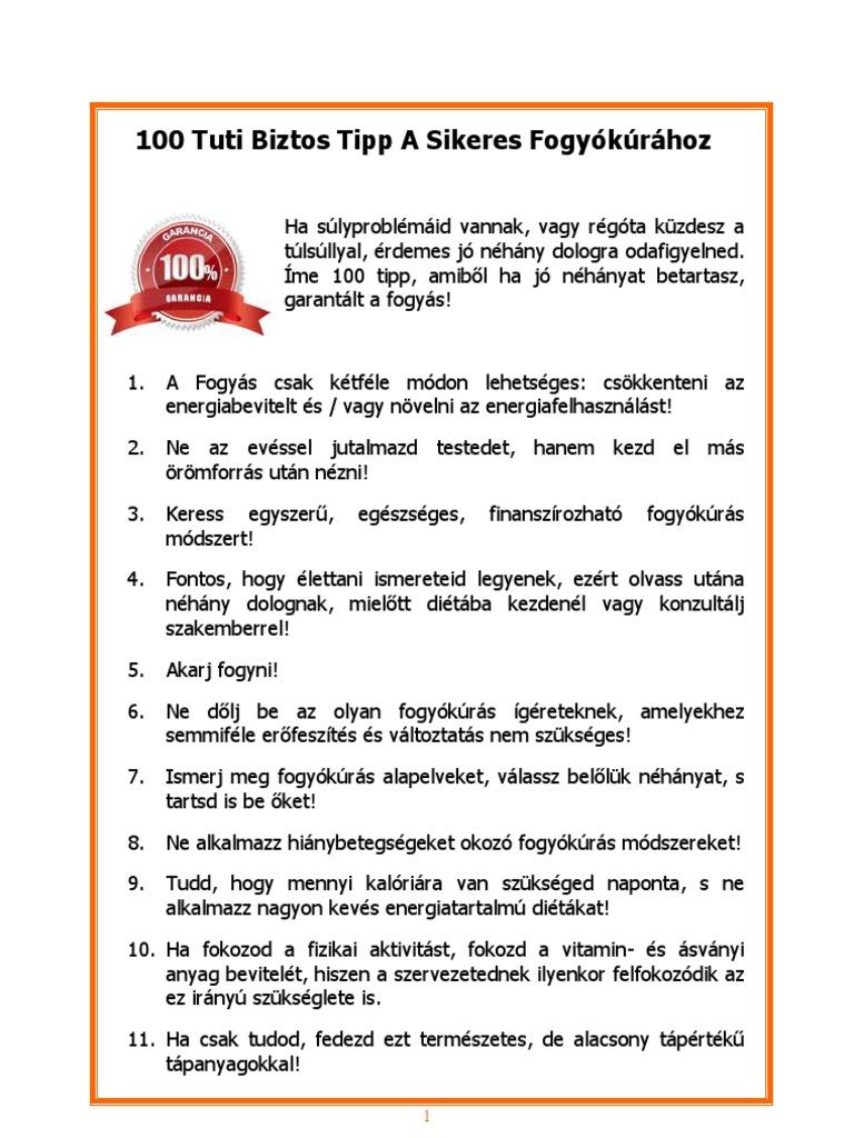 10 egyszerű tipp a sikeres fogyáshoz)
